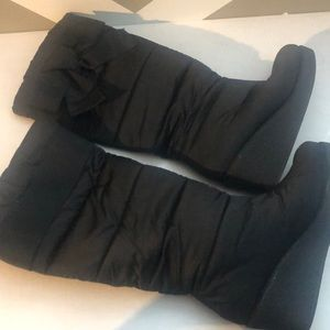 Kate Spade NY CAGNEY Black Quilted Nylon Boots